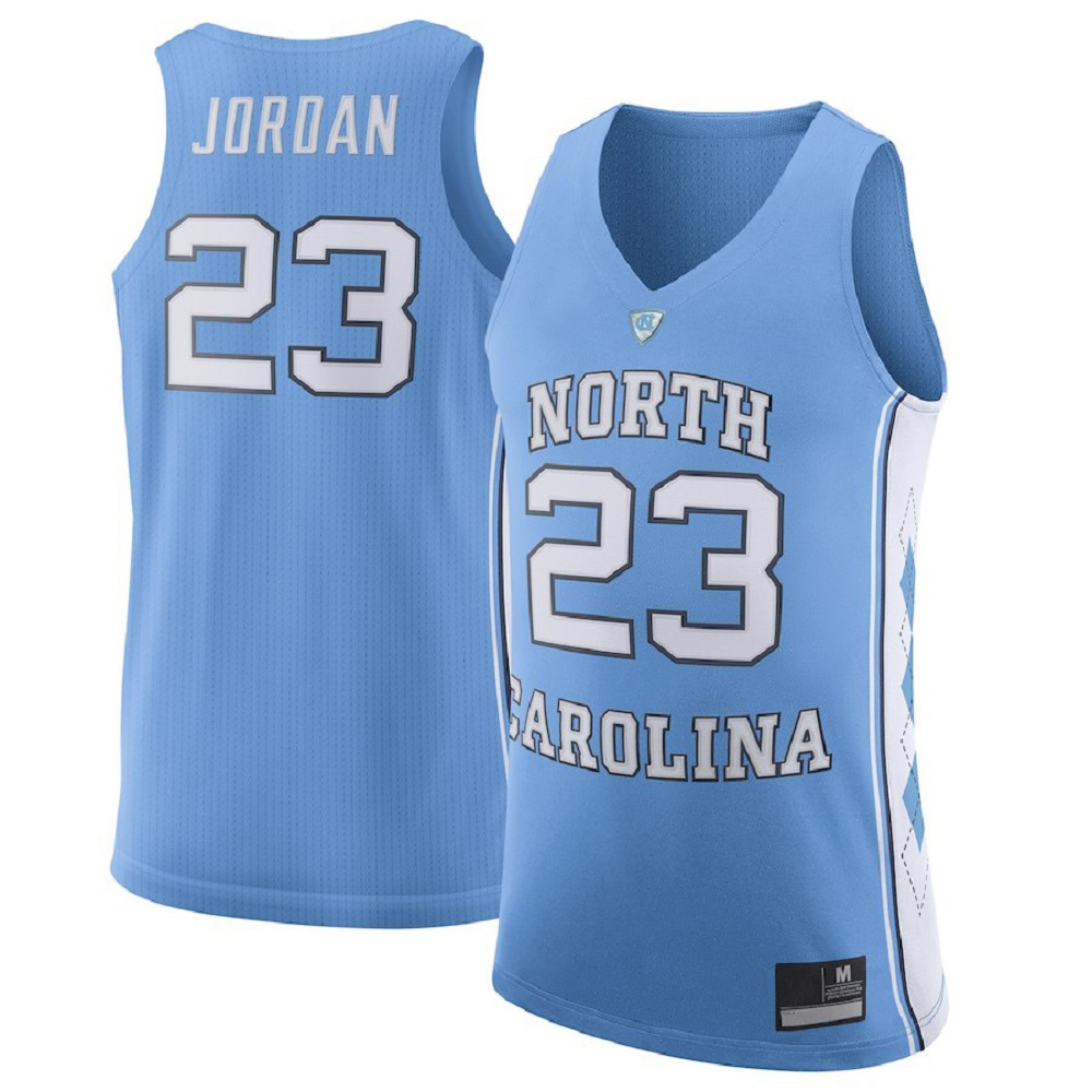 Majestic Athletic Michael Jordan Men's #23 Light Blue North Carolina Tar Heels Basketball Jersey
