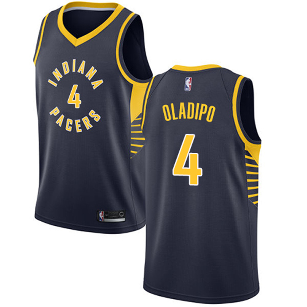 Majestic Athletic Victor Oladipo #4 Indiana Pacers Women's Jersey Navy Blue