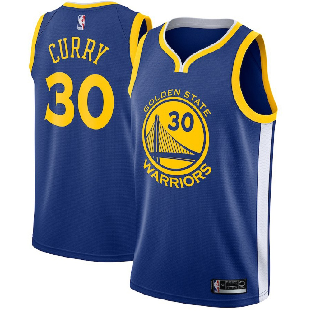 Majestic Athletic Men's Stephen Curry Blue #30 Golden State Warriors Swingman Jersey