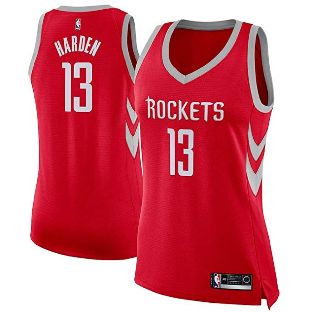 new arrivals ce044 5fb09 Majestic Athletic James Harden #13 Houston Rockets Red ...