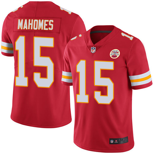 Majestic Athletic Men's Kansas City Chiefs #15 Patrick Mahomes II Red Home Limited Jersey