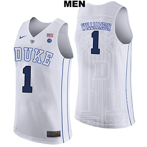 Majestic Athletic Zion Williamson no. 1 Stitched Duke Blue Devils Mens College Basketball Jersey ...