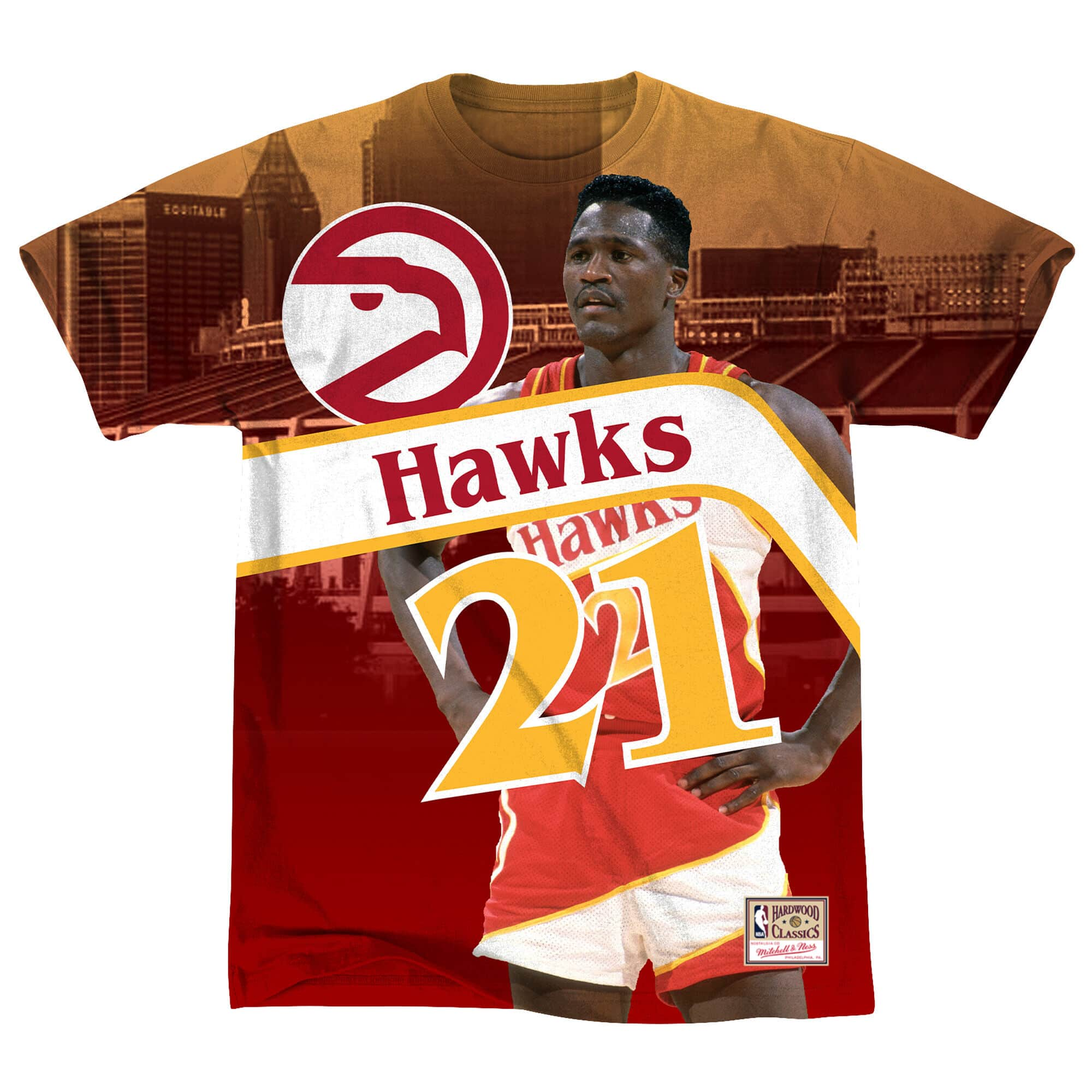 City Pride M&N Tee Atlanta Hawks Dominique Wilkins