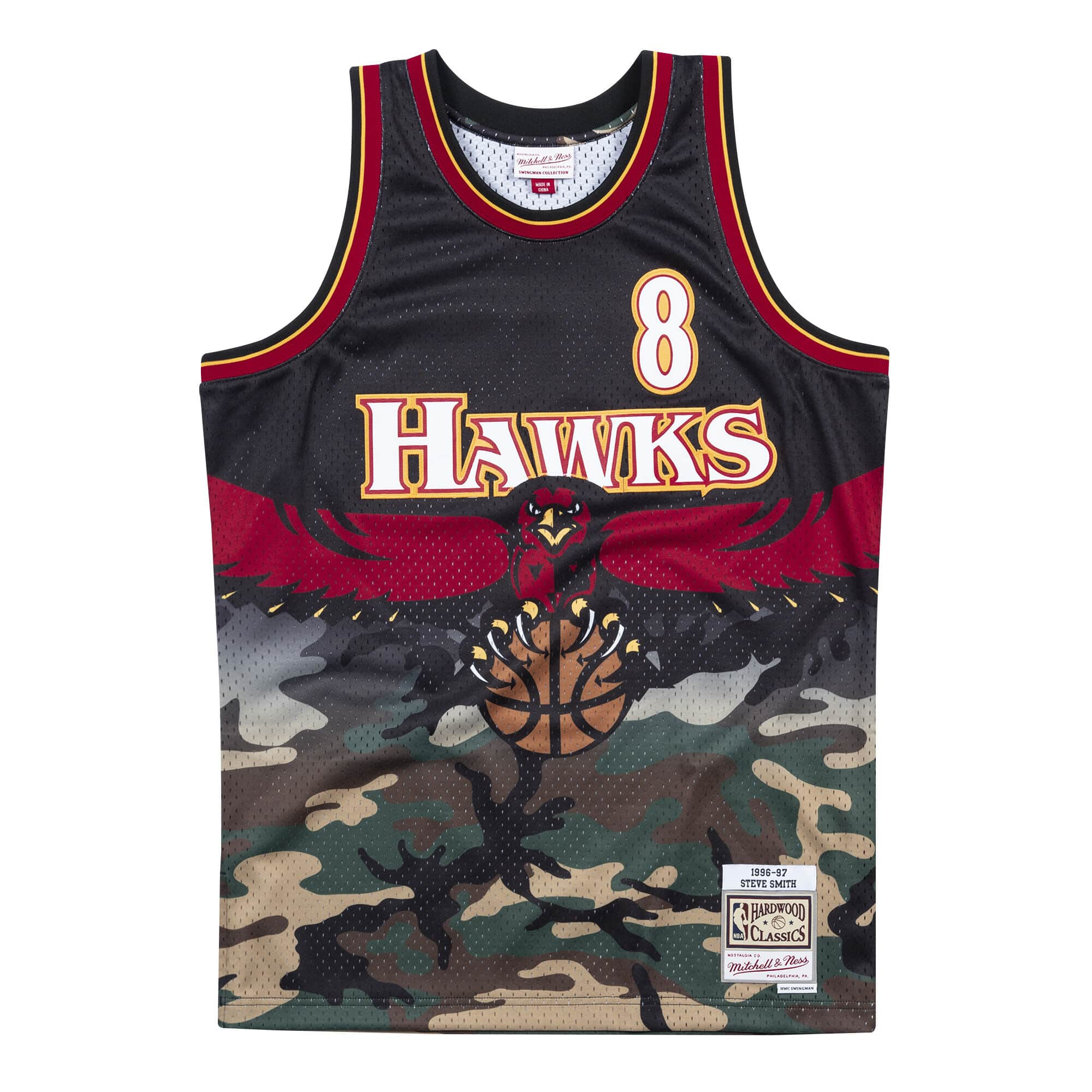 Woodland Camo Swingman Jersey Atlanta Hawks 1996-97 Steve Smith