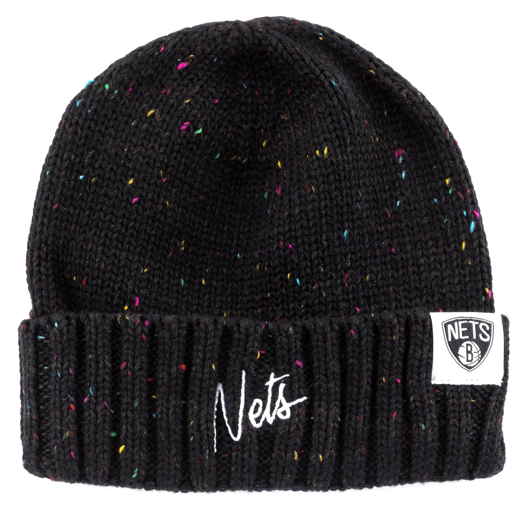 TC Heather Script Knit Beanie Brooklyn Nets