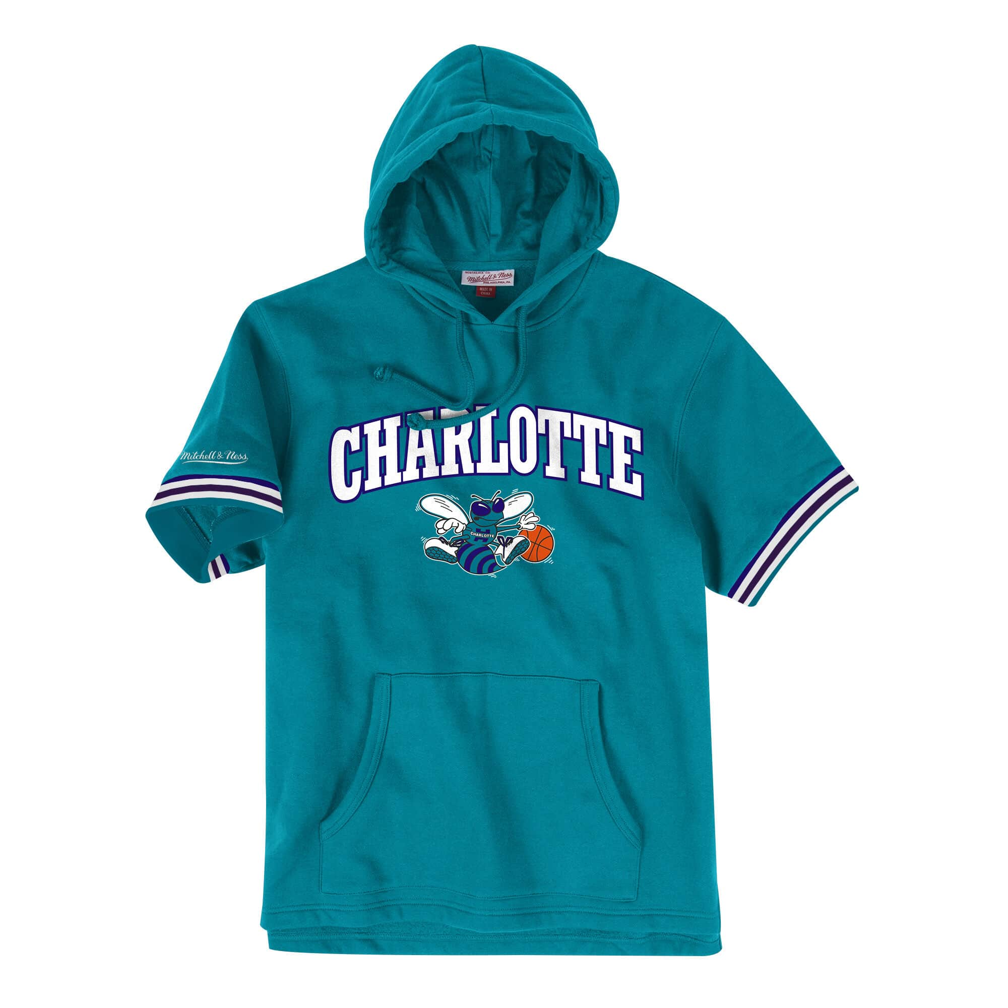 French Terry Short Sleeve Hoody Charlotte Hornets