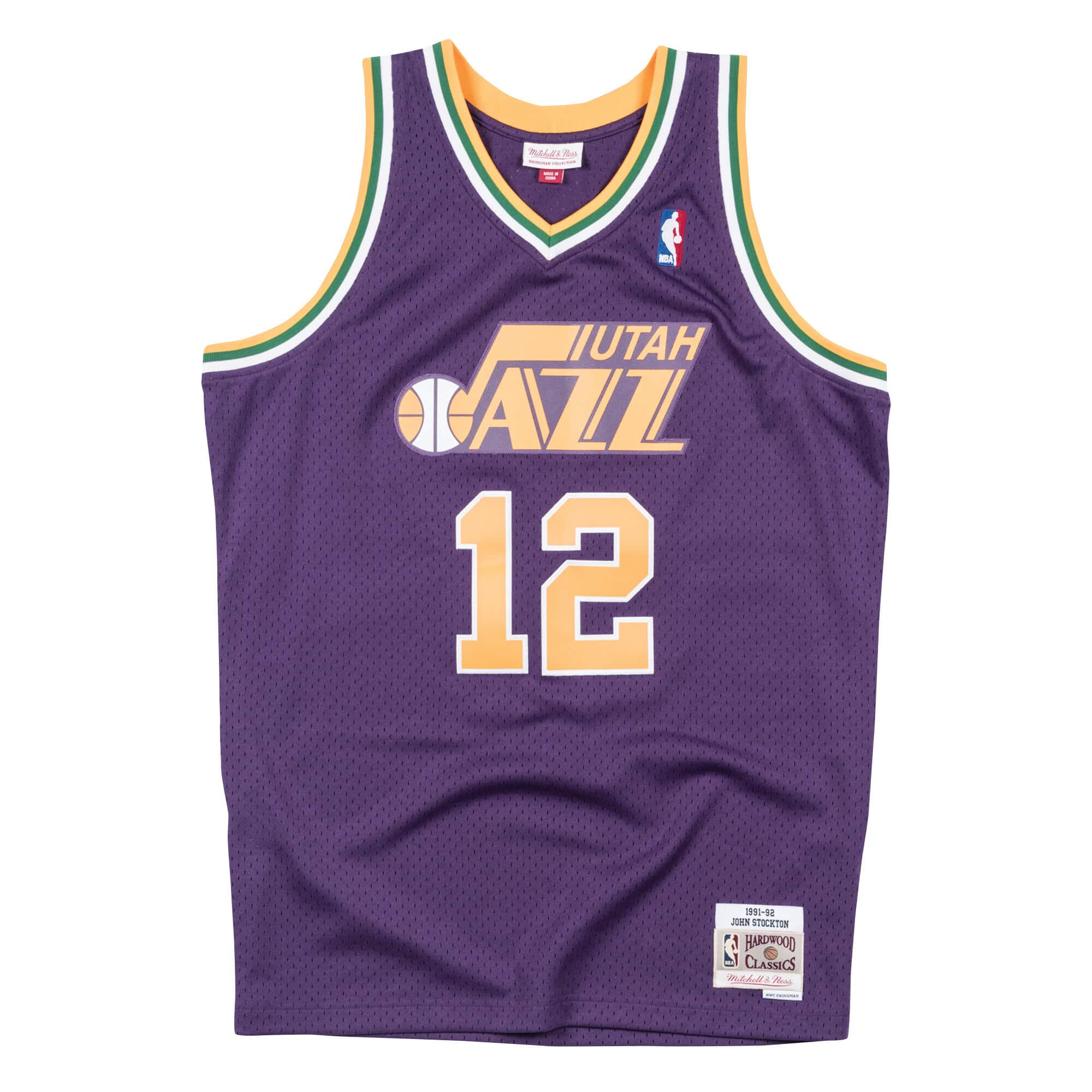 Swingman Jersey Utah Jazz Road 1991-92 John Stockton
