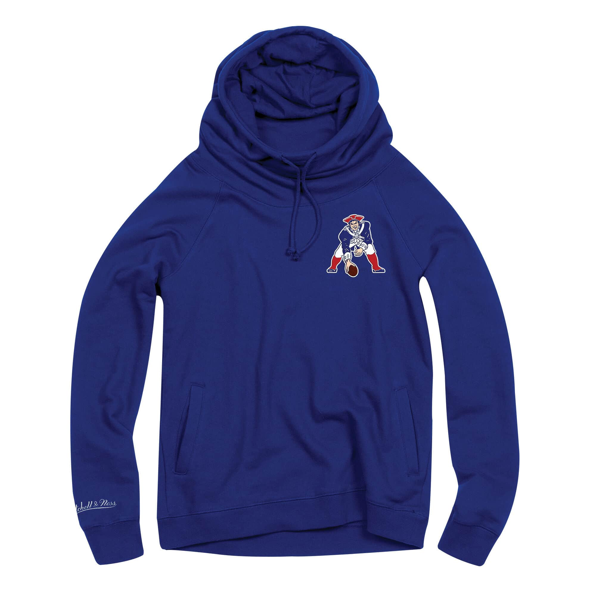 Women's Funnel Neck Hoody New England Patriots
