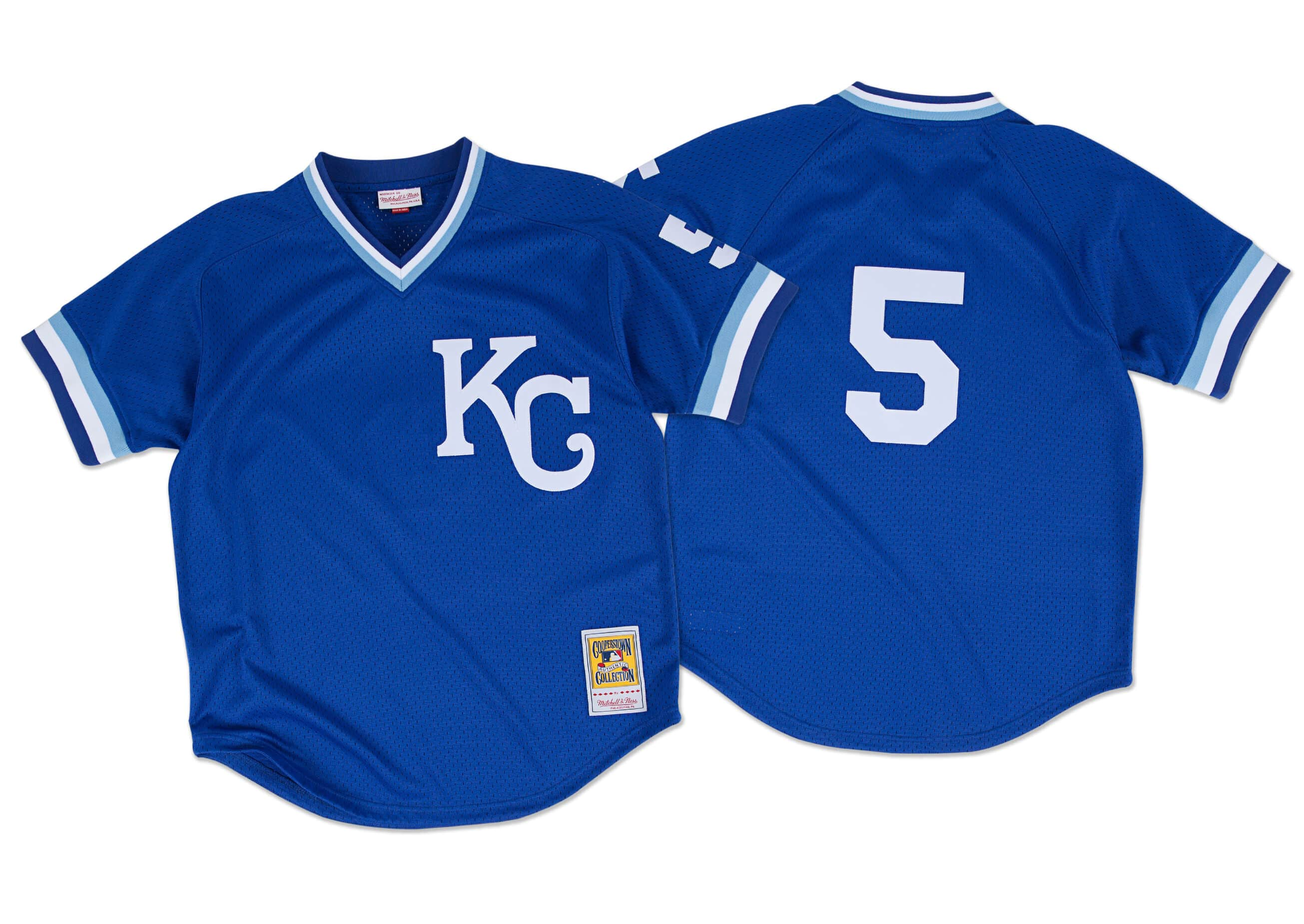 George Brett 1989 Authentic Mesh BP Jersey Kansas City Royals