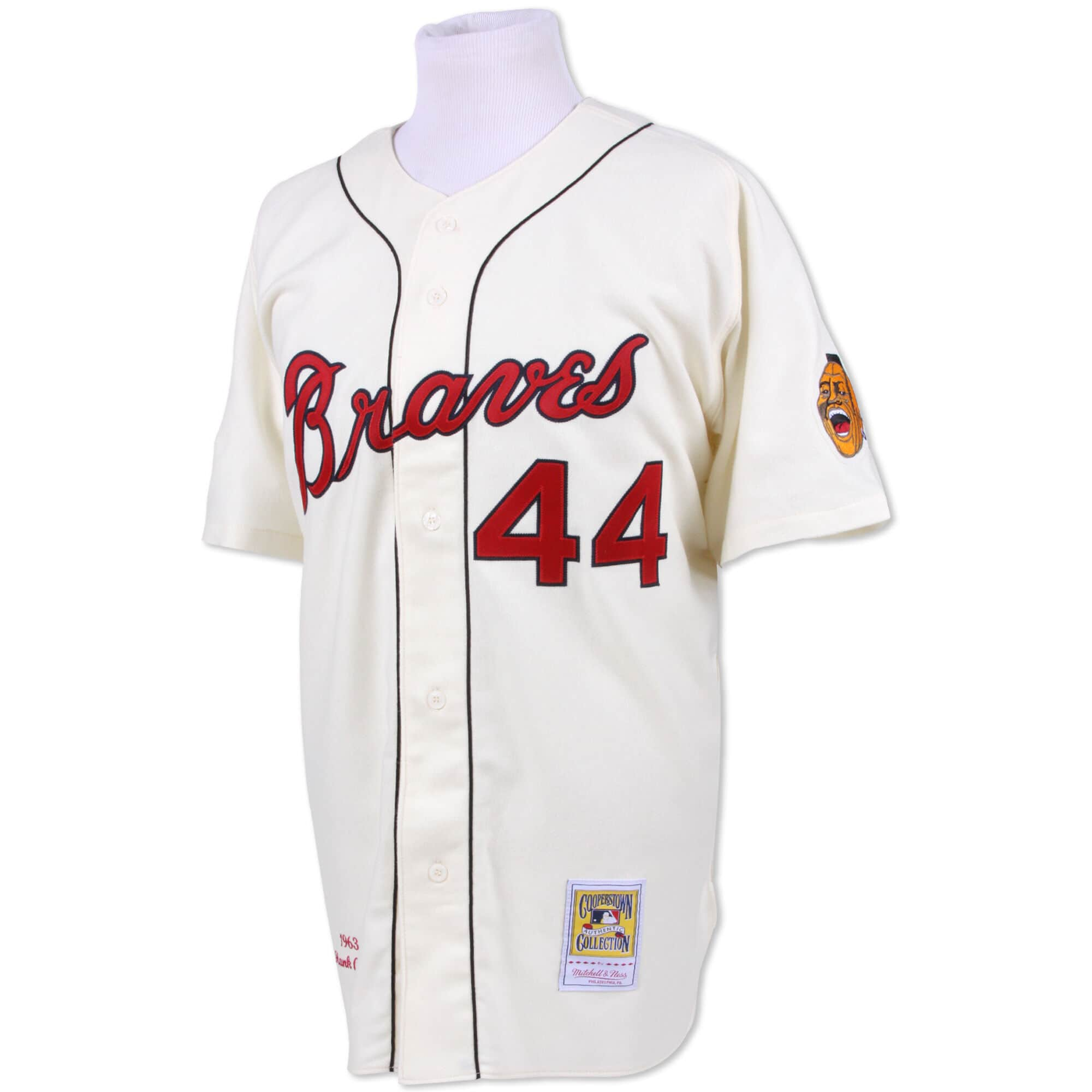 Hank Aaron 1963 Authentic Jersey Milwaukee Braves