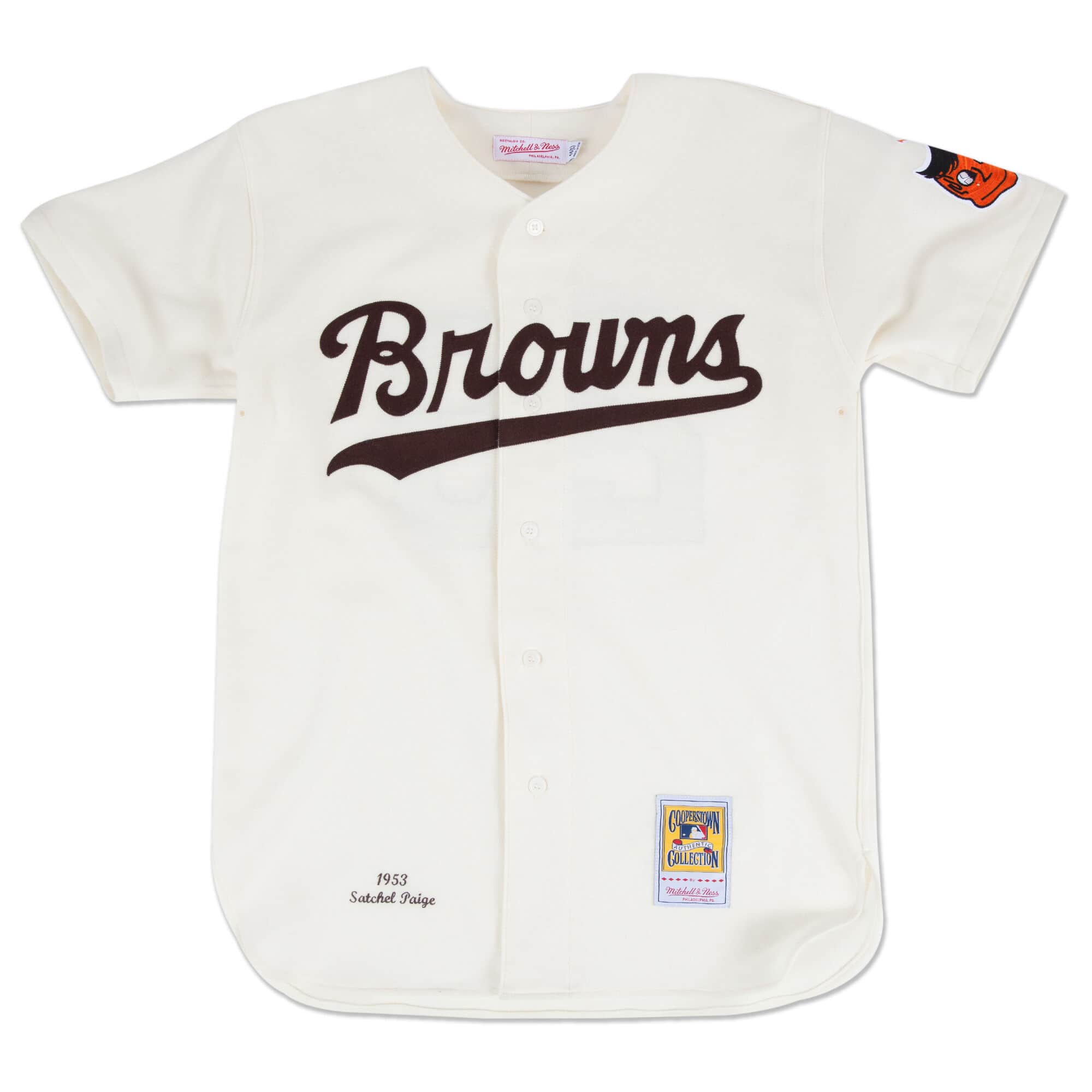Satchel Paige 1953 Authentic Jersey St. Louis Browns