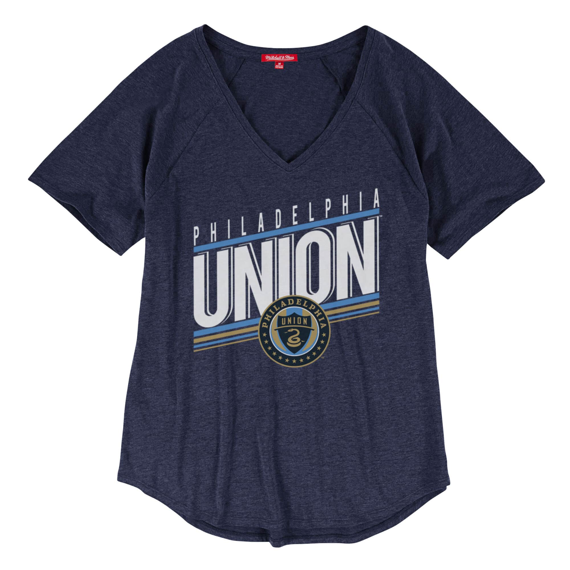 Race to the Finish Women's V-Neck Tee Philadelphia Union