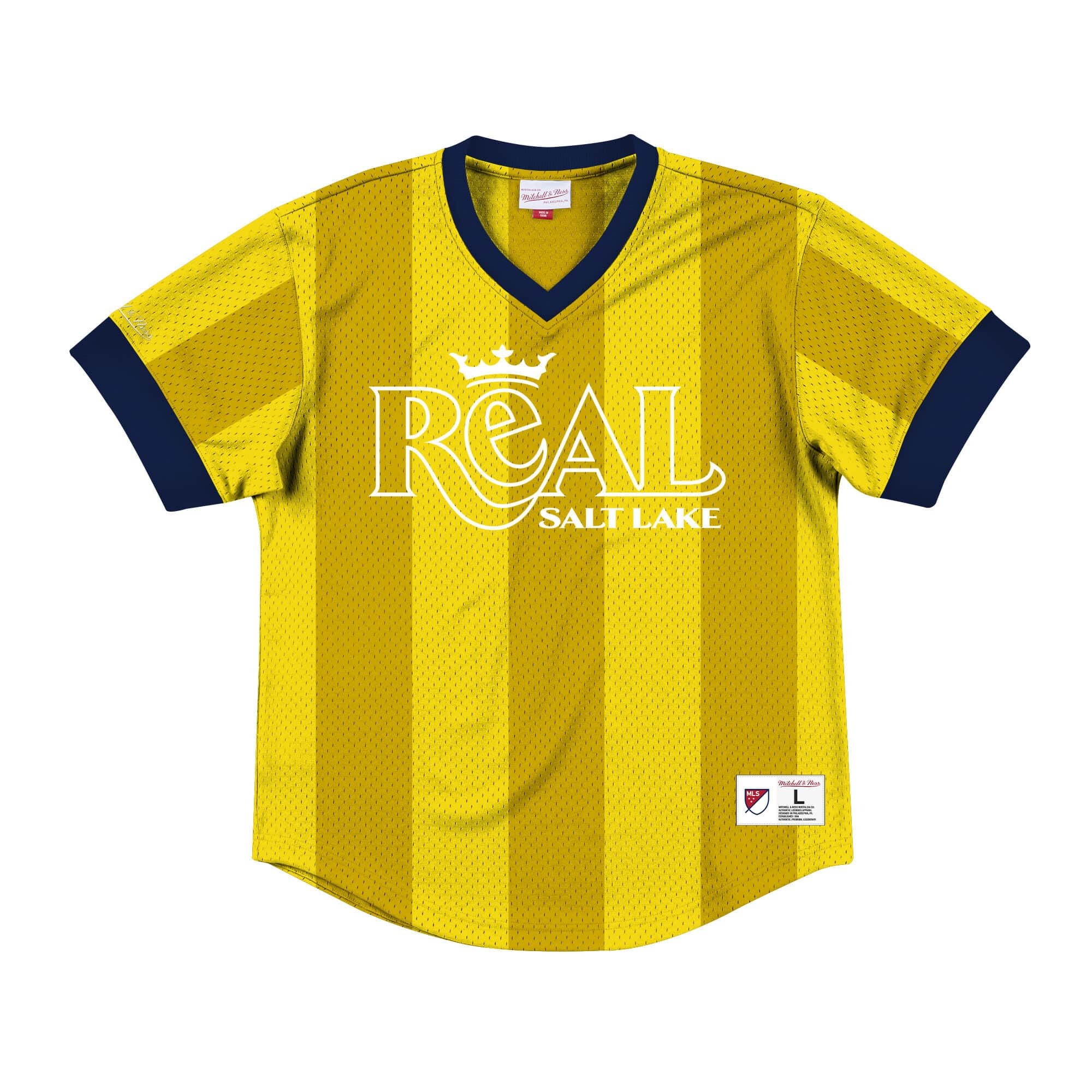 Wordmark Mesh V-Neck Real Salt Lake