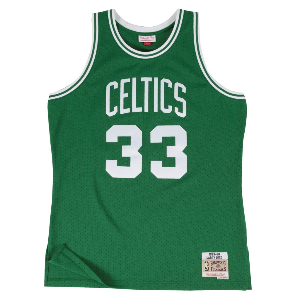 Larry Bird Boston Celtics Mitchell and Ness Men's Green Throwback Jesey