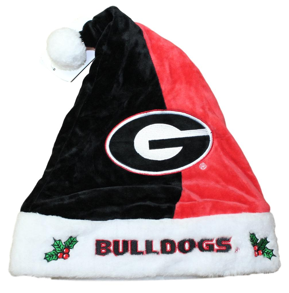 Georgia Bulldogs 2017 NCAA Basic Logo Plush Christmas Santa Hat