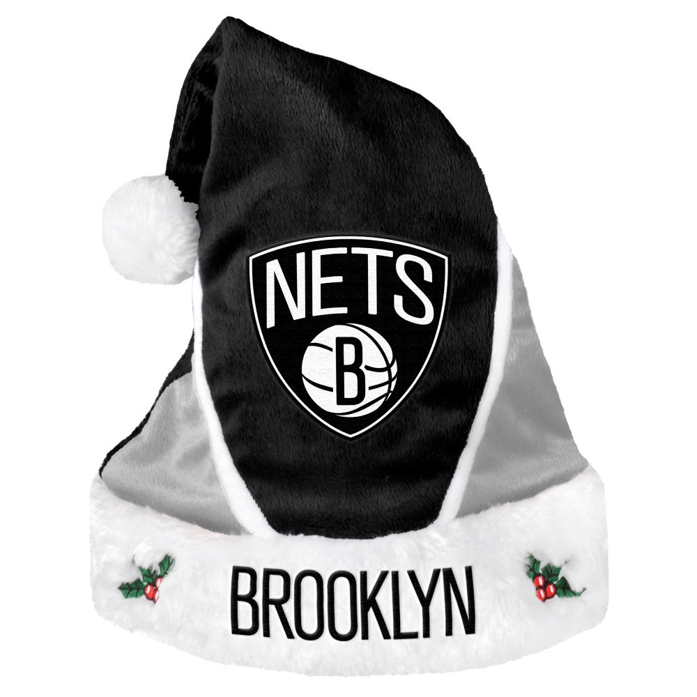 Brooklyn Nets 2014 NBA Color Block Santa Hat
