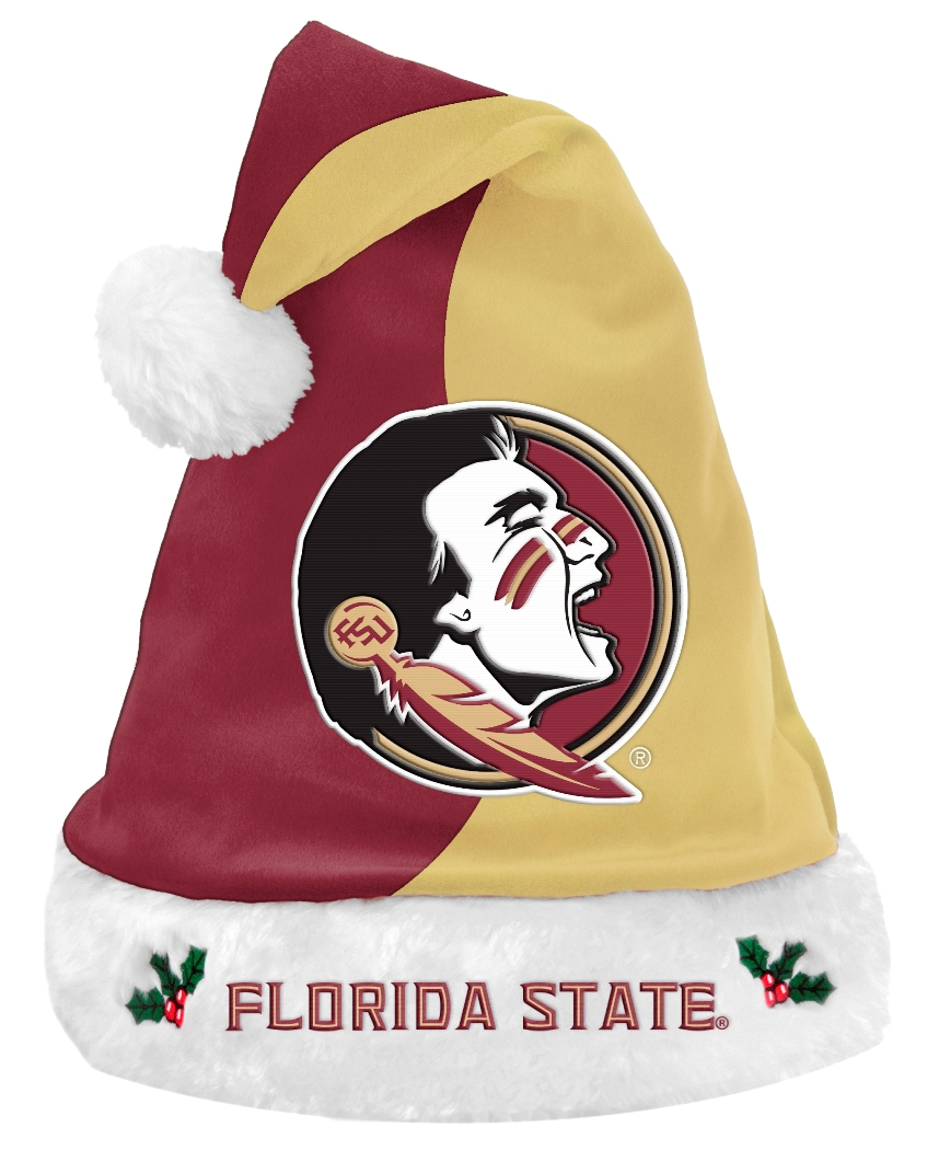 Florida State Seminoles 2017 NCAA Basic Logo Plush Christmas Santa Hat