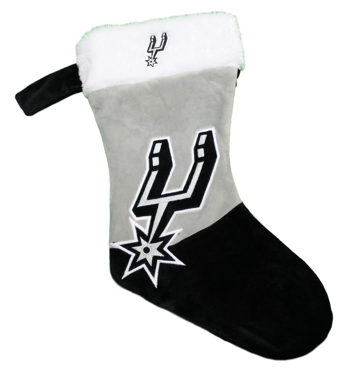 San Antonio Spurs 2018 NBA Basic Logo Plush Christmas Stocking