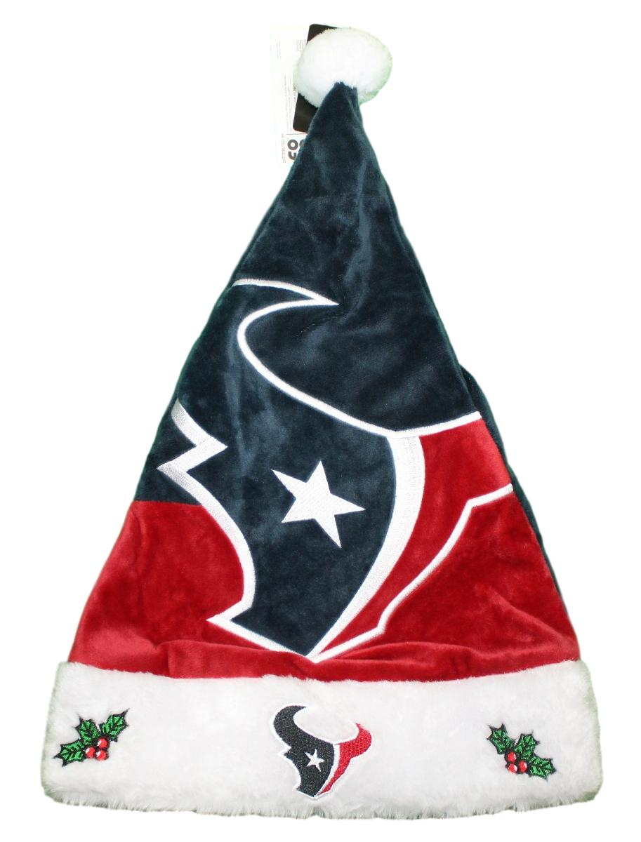 Houston Texans 2018 NFL Basic Logo Plush Christmas Santa Hat