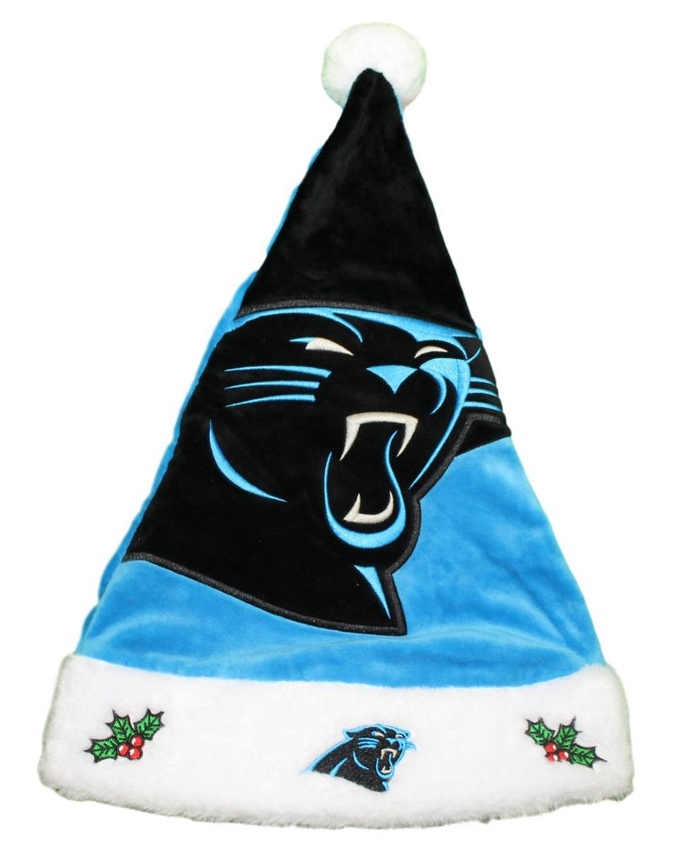 Carolina Panthers 2018 NFL Basic Logo Plush Christmas Santa Hat