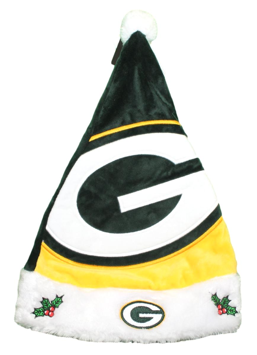 Green Bay Packers 2018 NFL Basic Logo Plush Christmas Santa Hat