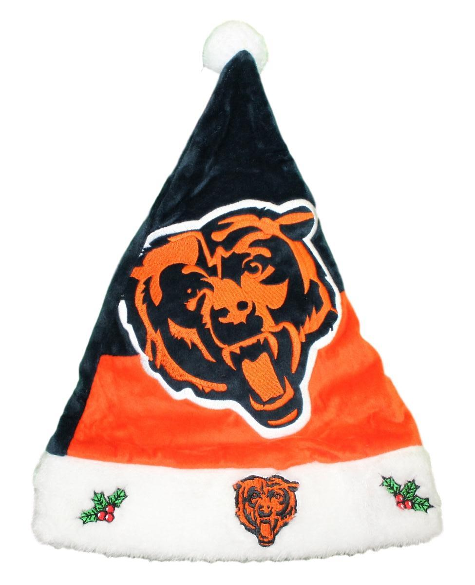 Chicago Bears 2018 NFL Basic Logo Plush Christmas Santa Hat