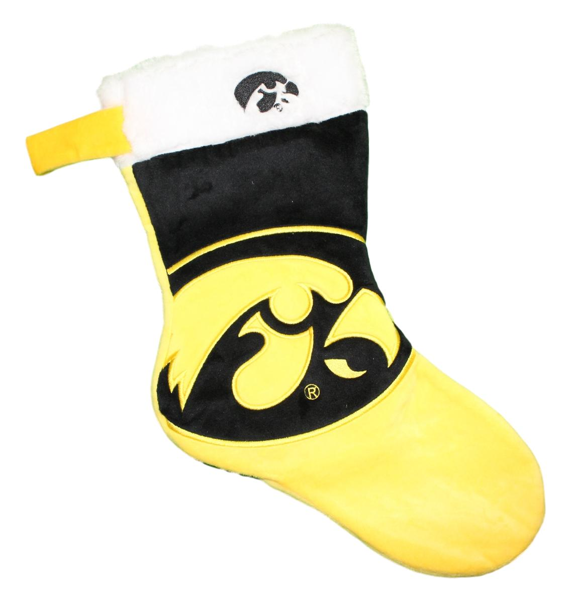 Iowa Hawkeyes 2018 NCAA Basic Logo Plush Christmas Stocking