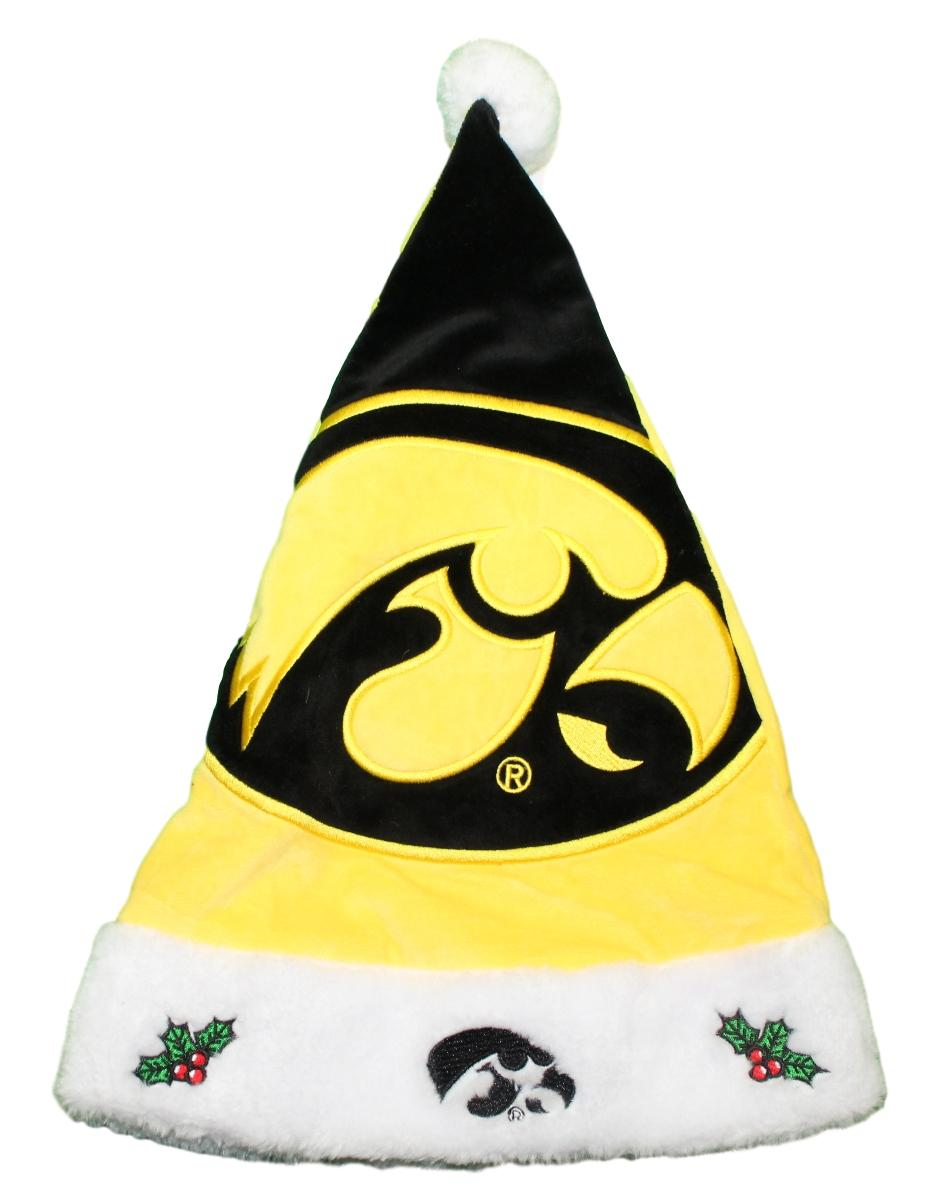 Iowa Hawkeyes 2018 NCAA Basic Logo Plush Christmas Santa Hat
