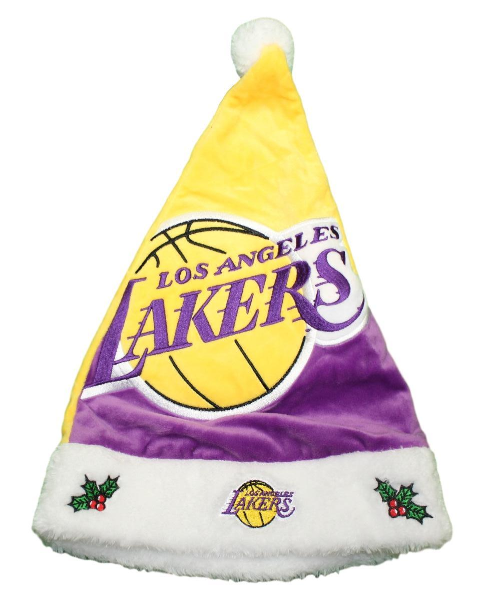 Los Angeles Lakers 2018 NBA Basic Logo Plush Christmas Santa Hat