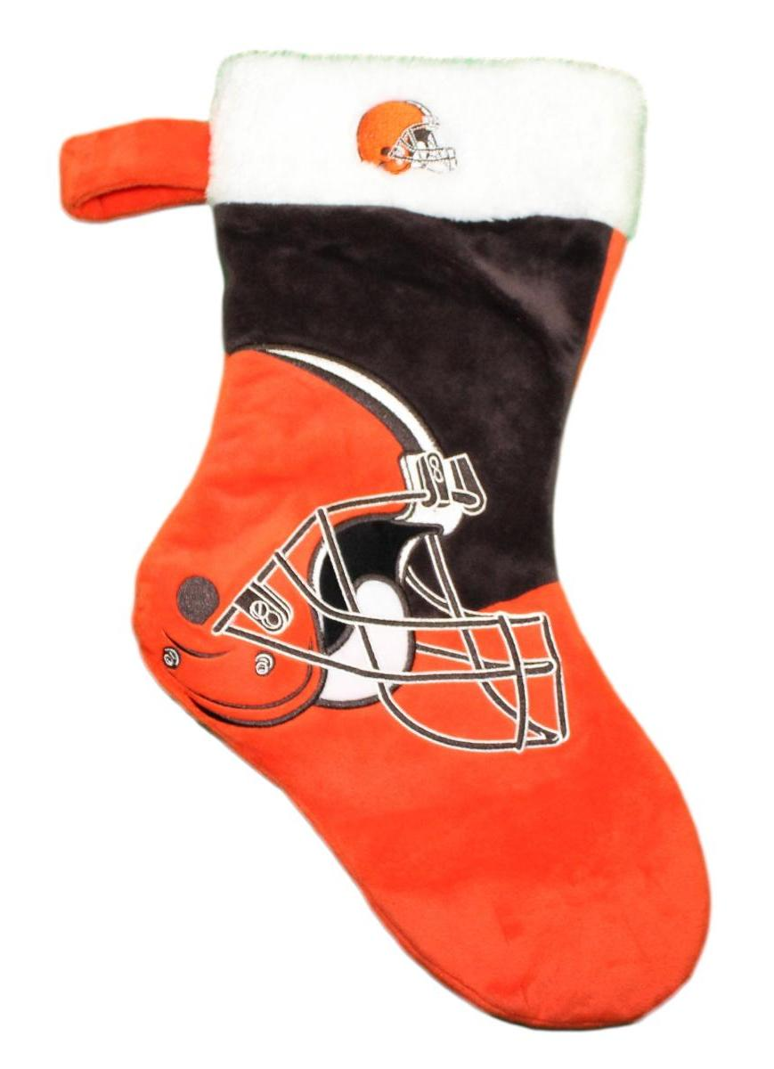 Cleveland Browns 2018 NFL Basic Logo Plush Christmas Stocking
