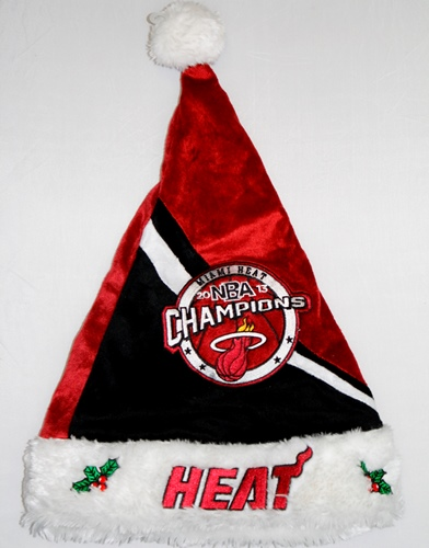 Miami Heat 2013 NBA Champions Swoop Santa Hat