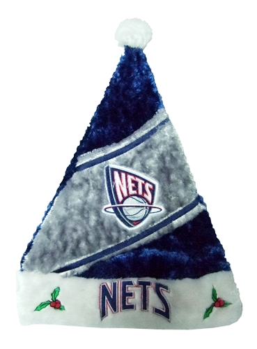 New Jersey Nets NBA Himo Plush Santa Hat