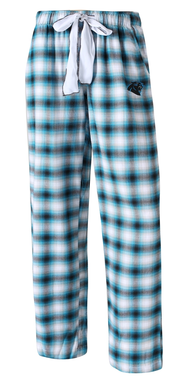 "Carolina Panthers NFL Women's ""Forge"" Dual Blend Plaid Flannel Sleep Pants"