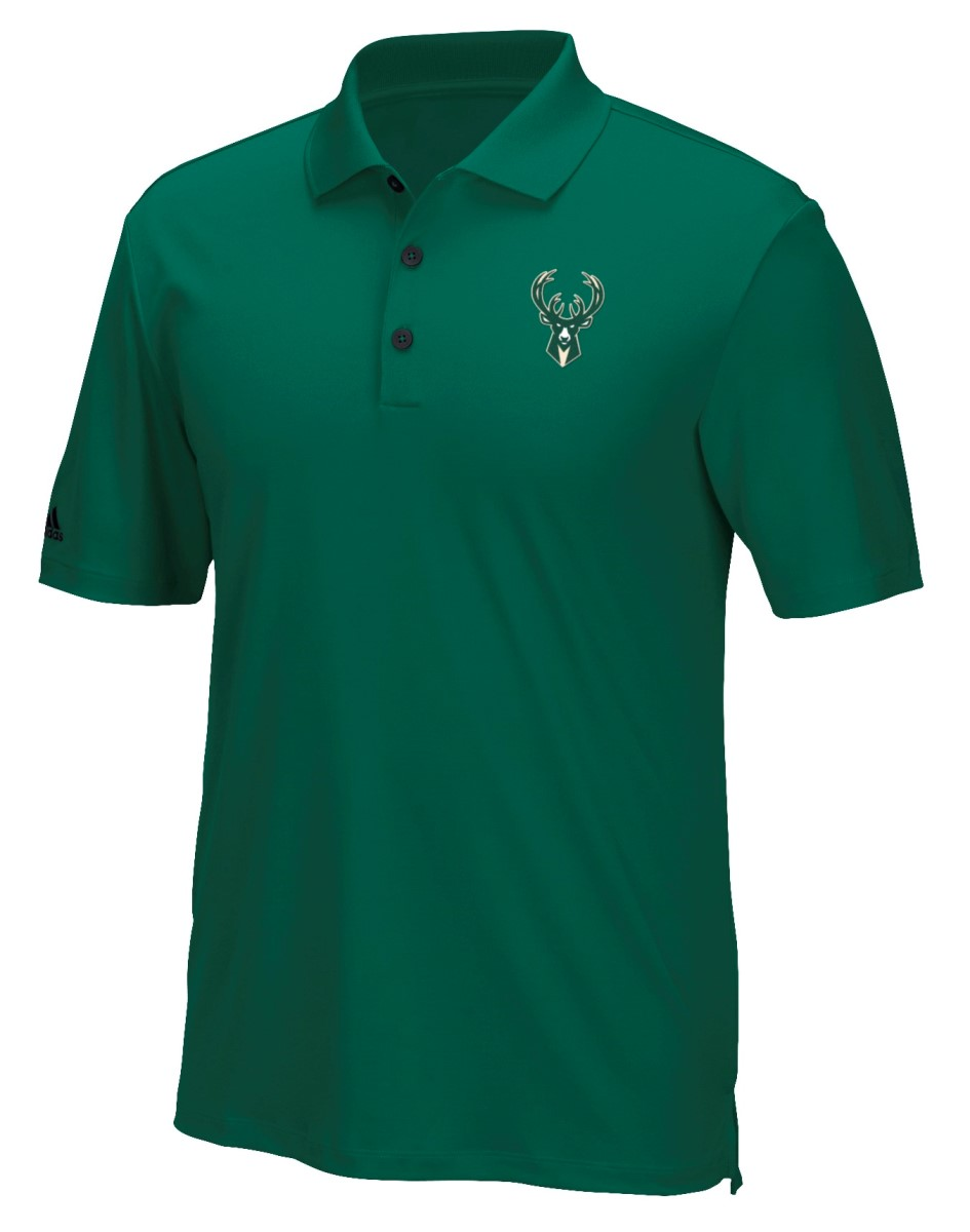 "Milwaukee Bucks Adidas NBA Men's ""Performance"" Climacool Polo Shirt"