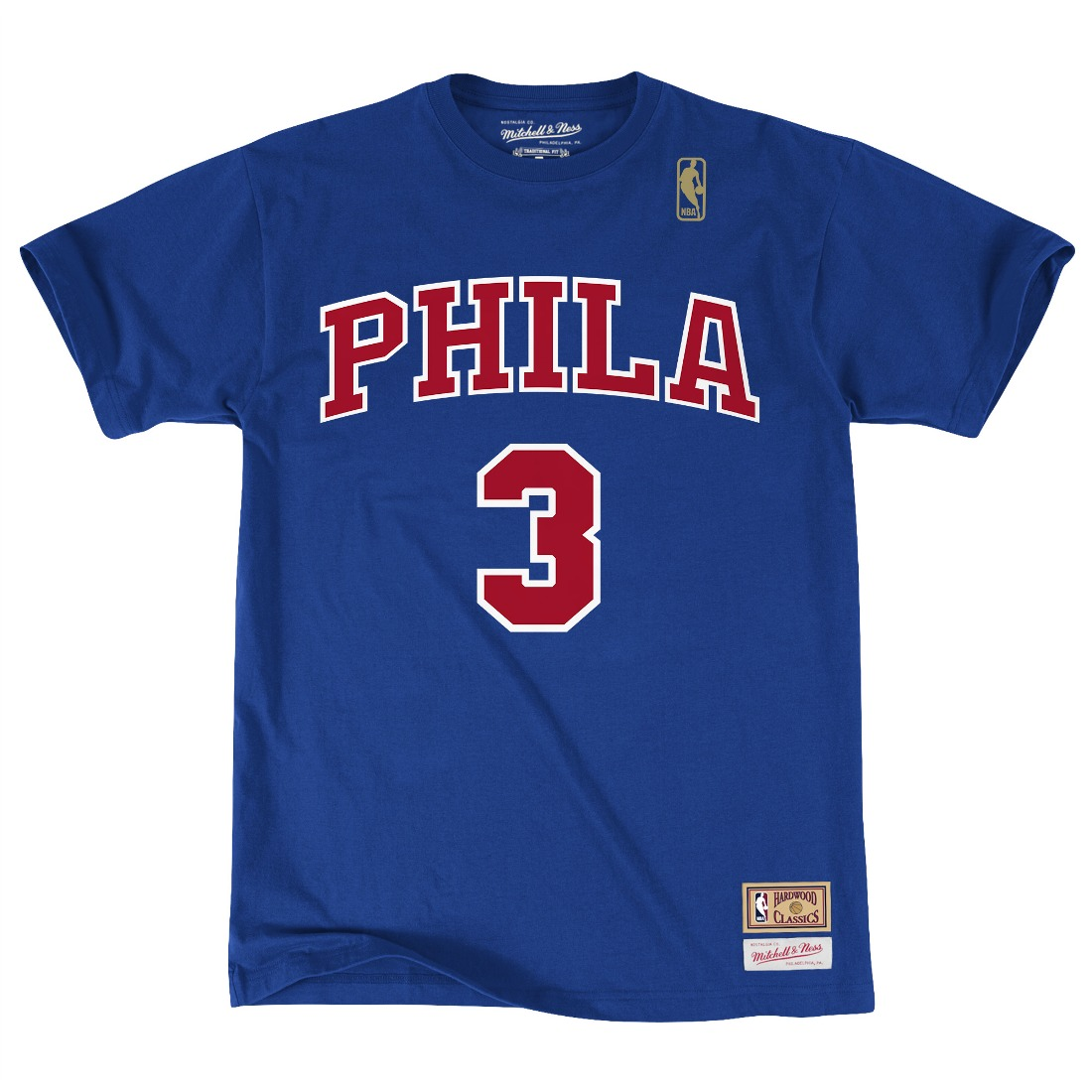 "Allen Iverson Philadelphia 76ers Mitchell & Ness NBA Men's ""Player"" Blue T-Shirt"