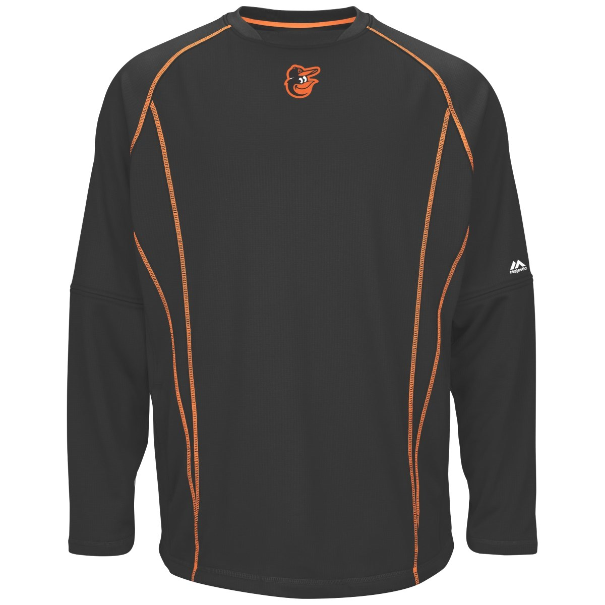 Baltimore Orioles Majestic MLB Authentic On-Field Crew Pullover Sweatshirt