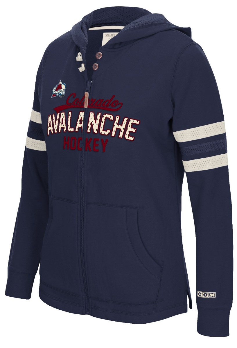 "Colorado Avalanche Women's NHL CCM ""Classic"" Full Zip Hooded Sweatshirt"