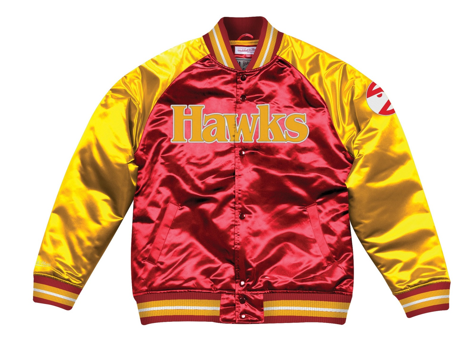"Atlanta Hawks Mitchell & Ness NBA ""Tough Season"" Premium Satin Jacket"