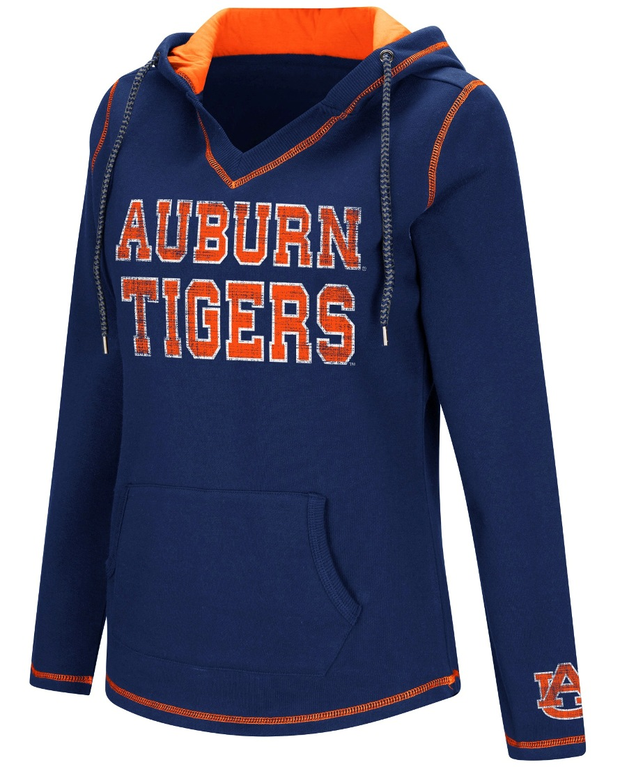 "Auburn Tigers Women's NCAA ""Spike"" V-neck Pullover Hooded Sweatshirt"