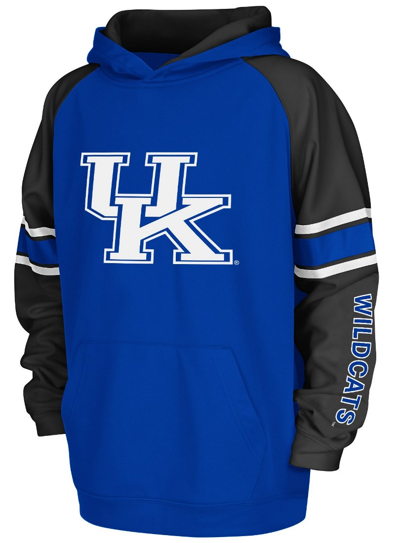 "Kentucky Wildcats Youth NCAA ""Buttonhook"" Pullover Hooded Sweatshirt"