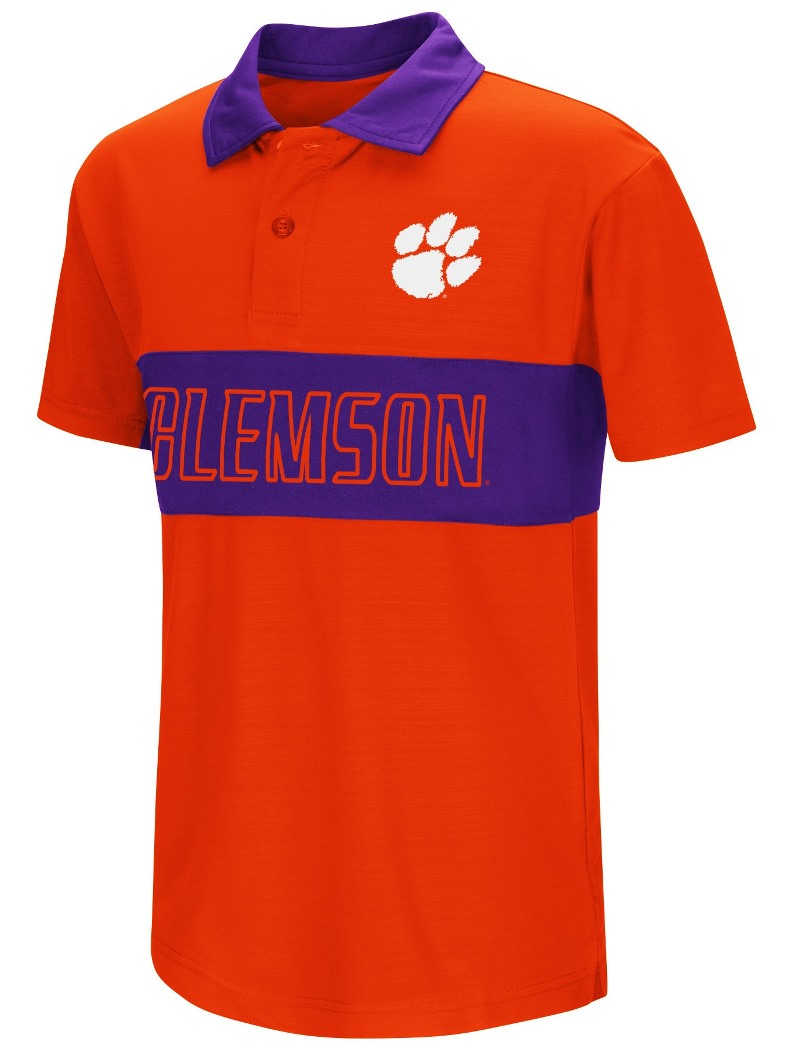 "Clemson Tigers NCAA ""Setter"" Youth Performance Polo Shirt"