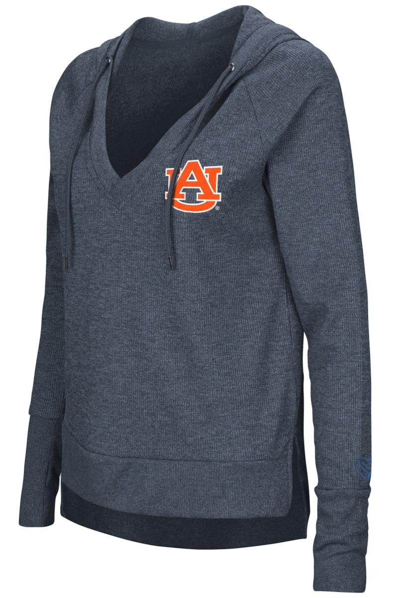 "Auburn Tigers Women's NCAA ""Never Doubt"" V-neck Hooded Shirt"