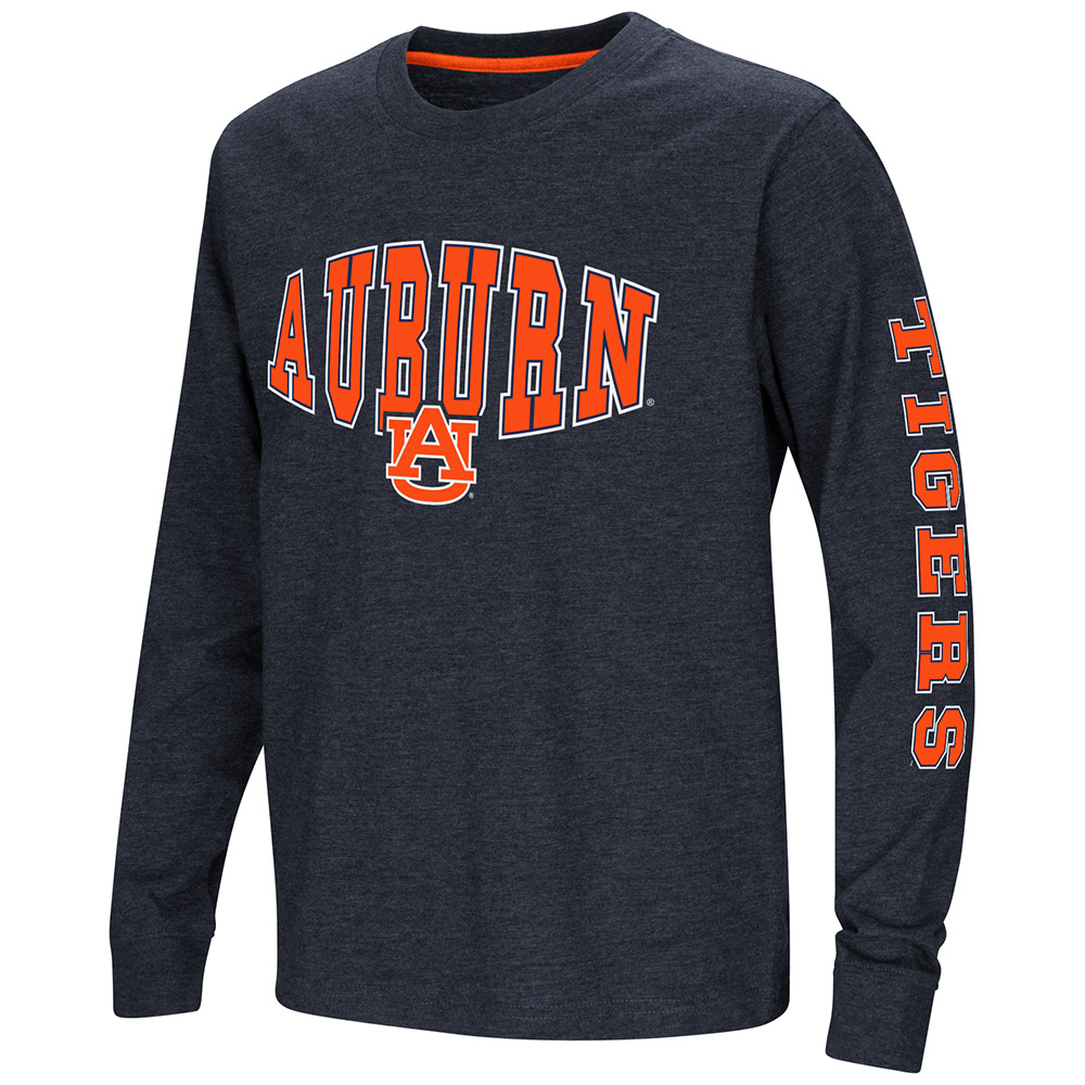 "Auburn Tigers NCAA ""Touchdown"" Youth Dual Blend Long Sleeve T-Shirt"
