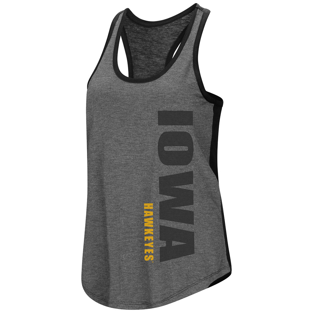"Iowa Hawkeyes Women's NCAA ""Share It"" Dual Blend Racer Back Tank Top"