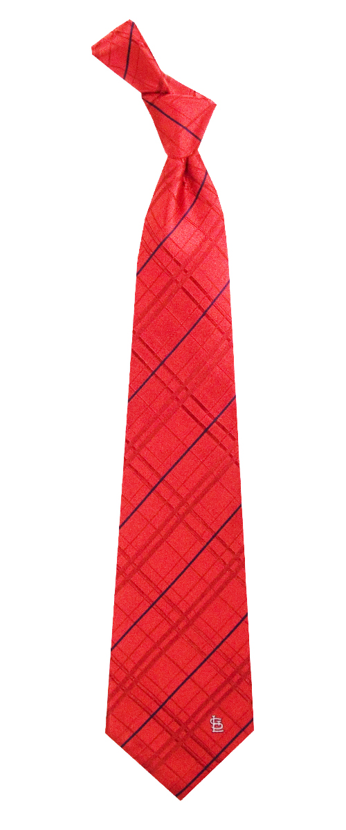 "St. Louis Cardinals MLB ""Oxford"" Men's Woven Silk Tie"