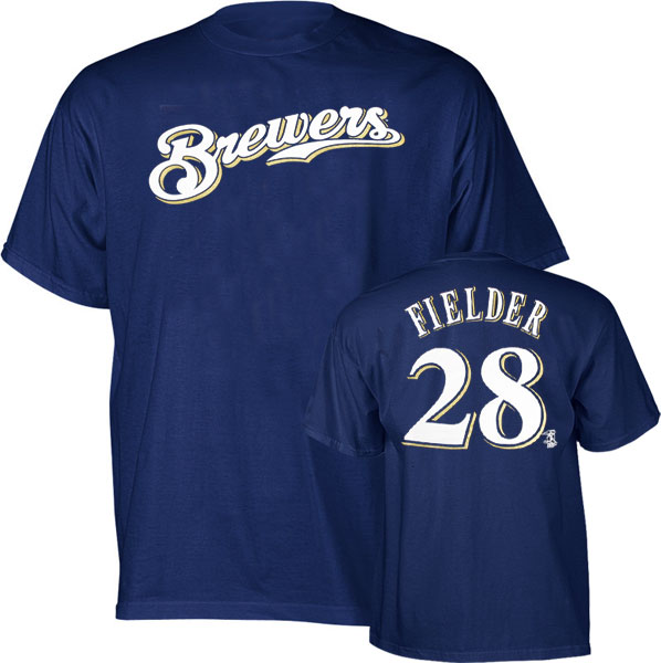 Prince Fielder Brewers Youth MLB Prostyle Player T-Shirt