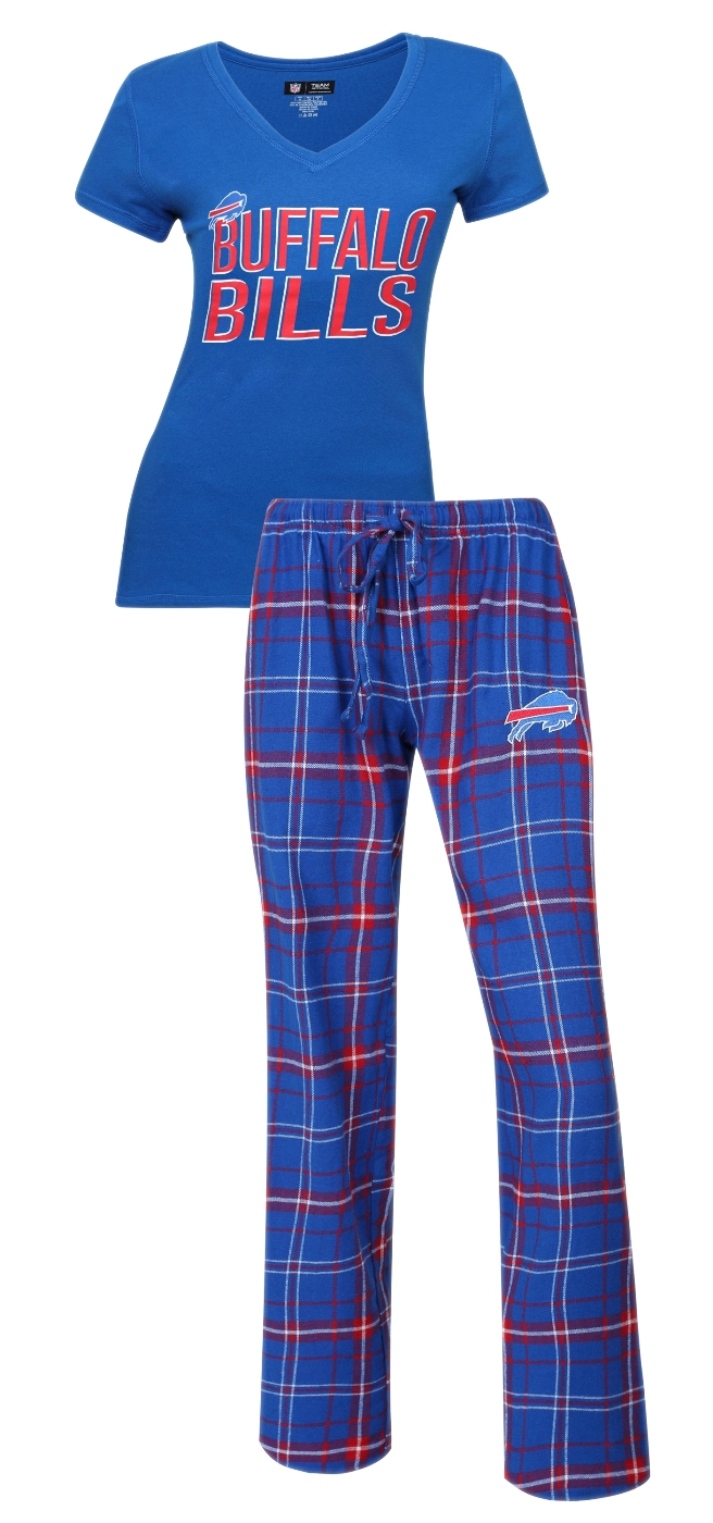 "Buffalo Bills NFL ""Game Day"" Women's T-shirt & Flannel Pajama Sleep Set"