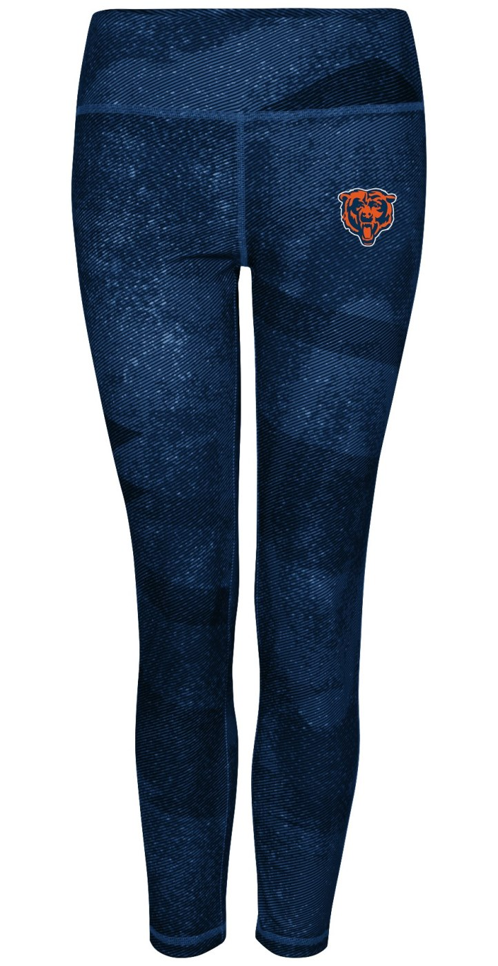 "Chicago Bears Women's Majestic NFL ""Dynamic Effort"" Leggings Yoga Pants"