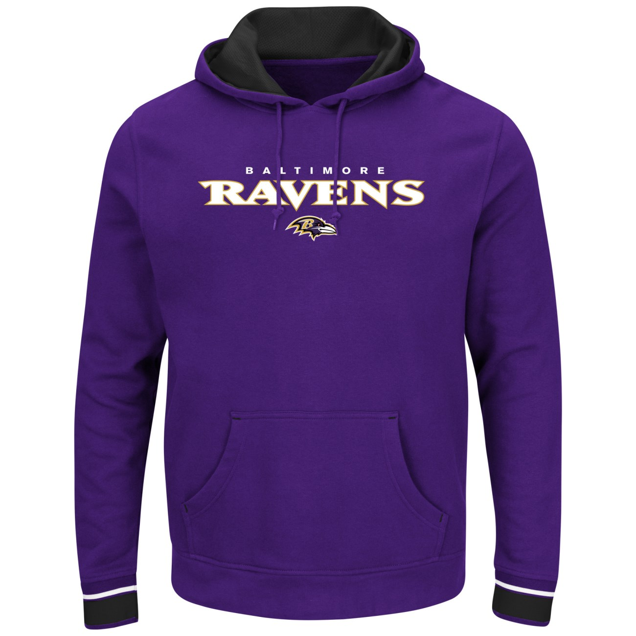 "Baltimore Ravens Majestic NFL ""Championship"" Men's Pullover Hooded Sweatshirt"
