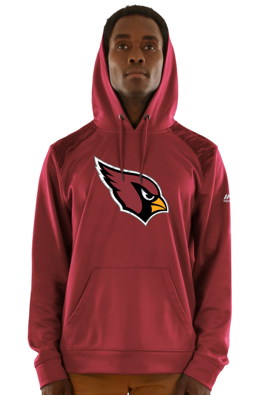 "Arizona Cardinals Majestic NFL ""Armor 3"" Men's Pullover Hooded Sweatshirt"